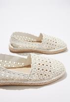 Cotton On - Vittoria woven espadrille - white