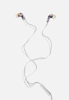 Typo - Printed earphones - blue & pink