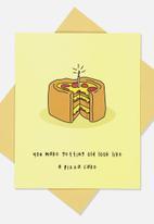 Typo - Premium funny birthday card - pizza cake