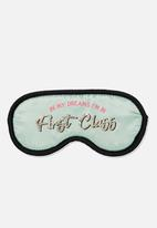 Typo - Premium eye mask - mint first class