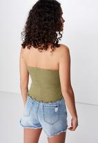 Cotton On - Rachel rouched tube top  - green