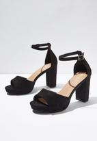 Cotton On - Garnet platform heel - black