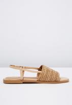 Cotton On - Piper sling back sandal - neutral