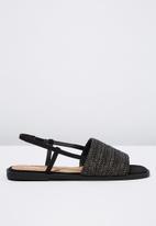 Cotton On - Piper sling back sandal - black