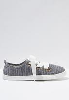 Cotton On - Penelope lace up plimsoll - navy