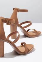 Cotton On - Lily block heel  - brown