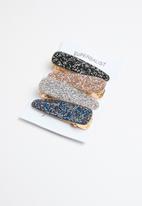 Superbalist - Glitter hair slide set - multi