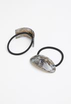Superbalist - Marbled hair tie set - grey