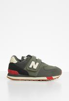 New Balance  - Kids 574 classic runner - green