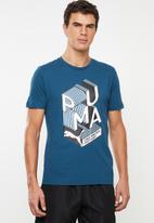 PUMA - Graphic effect interest tee - blue