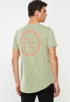 Factorie - Curved graphic T-shirt - green