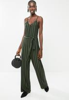 Superbalist - Knit jumpsuit - khaki & black