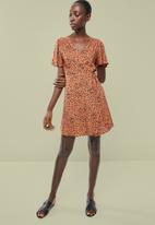 Superbalist - Mini wrap dress - multi