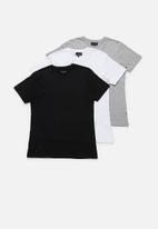 Superbalist - Crew neck short sleeve 3 pack tees - multi
