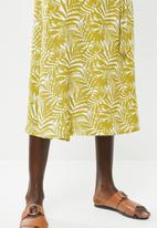 Superbalist - Wrap midi skirt - green & cream