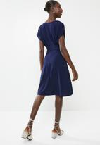Superbalist - Shift dress with front tucks - navy
