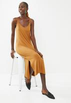 Superbalist - Soft Knit strappy dress - ochre