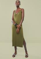 Superbalist - Soft Knit strappy dress - khaki