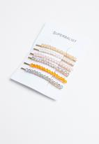 Superbalist - Embellished hair slide set - multi