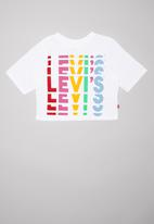 Levi's® - Rainbow logo cropped tee - white