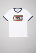 Levi's® - Levi's boys racing tee - white & navy