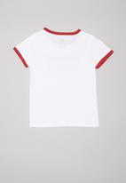Levi's® - Levi's girls oversized batwing ringer tee - white & red