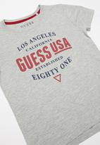 GUESS - Short sleeve guess est tee - grey
