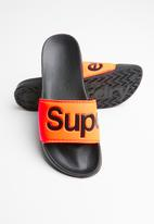 Superdry. - Superdry pool slide - black & orange