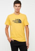 The North Face - Easy short sleeve tee - yellow & black