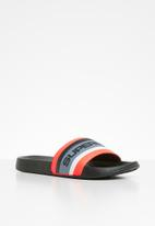 Superdry. - Superdry retro colour block pool slide - multi