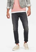 G-Star RAW - 3301 straight tapered  jeans - faded charcoal