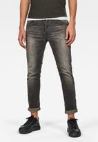 G-Star RAW - D-staq 5-pkt slim jeans - antic faded ash destroyed