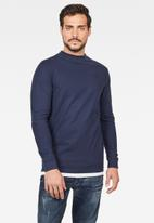 G-Star RAW - Korpaz mock r t long sleeve T-shirts - sartho blue