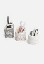 Sixth Floor - Terrazzo pen holders set of 3 - multi