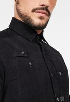 G-Star RAW - Utility ha straight long sleeve shirts  - dark black