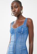 Sissy Boy - Corset denim dress - blue