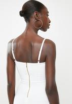 Sissy Boy - Take a bow lace midi - white