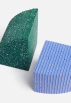 Sixth Floor - Terrazzo bookends set of 2 - blue & green