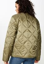 Cotton On - Erin quilted shell jacket  - green