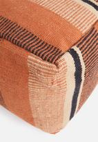 Sixth Floor - Barric woven pouff - rust