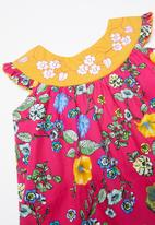 POP CANDY - Floral printed dress - yellow & pink