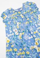 POP CANDY - Printed floral dress - blue