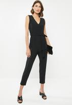 edit - Knot front jumpsuit - black
