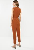 edit - Knot front jumpsuit - rust