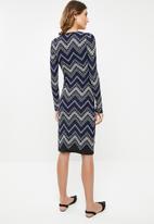 edit - Semi fitted knit dress - multi