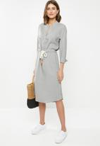 edit - Linen rope front dress - grey