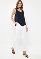 edit - Basic woven vest - navy