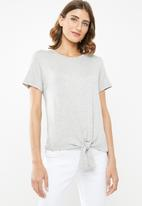 edit - Knot front tee - grey