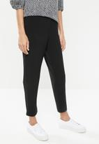 edit - Soft jogger with side tape - black