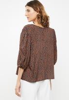 edit - Boxy blouse round neck - multi